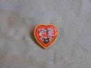 Italian mosaic heart pin