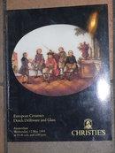 Christie's Catalog European Ceramics Dutch Delftware and Glass