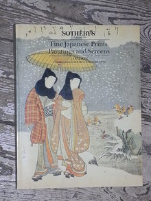Sotheby's Catalog  Fine Japanese Prints, Paintings and Screens