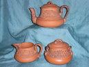 Redware tea set