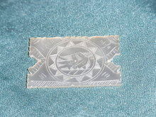 Mother of pearl gaming chip or token