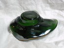 Green  Carnival Glass BonBon Dish