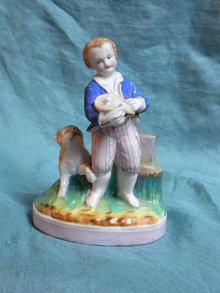 19th century  porcelain match stand
