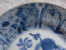 Large 18th century Chinese Blue and White  Plate