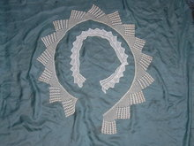 Very large hand made crochet collar, probably for a dress