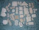 37 vintage or antique crochet samples or samplers