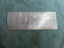Chinese mother of pearl gaming  chip, rectangle