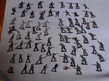 70 antique tin soldiers