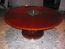 Round Mahogany Art Deco Style Dining Table