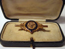 Royal Antediluvian order of   Buffaloes  9k Gold Bar Brooch / Pin  1910