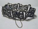 Vintage Silver & Marcasite Bracelet