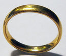 Antique English 22k Gold Band Wedding  Ring 1909