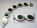 Modernist Silver & Nephrite Bracelet 1942