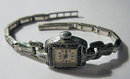 Lady's Vintage Swiss Silver & Marcasite Cocktail Dress Watch  by Rone 1970