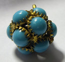 Antique Edwardian English Multi Turquoise Pendant  1915