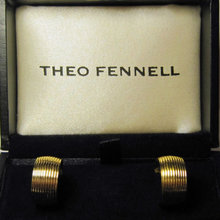 Theo Fennell Pair 18k Yellow Gold Hoop Earrings
