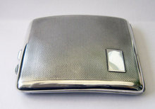 English Silver Cigarette Case By Randle Brothers 1938