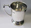 Vintage English Sterling Silver Christening Mug by William Bush 1945