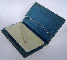 Antique English Ivory Aide Memoire  c1880