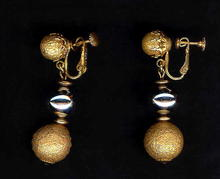 Vintage Miriam Haskell Double Ball Drop Earrings