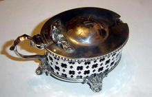 Antique Oval Pierced Mustard Pot  1910
