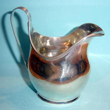 Vintage English Bellied Silver Cream Jug