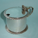 Vintage English Silver Drum Mustard Pot