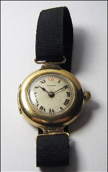 Lovely Vintage Ladys Rolex 9k Yellow Gold Watch 1917