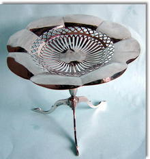 Antique Silver Pedestal  Table Bon Bon Dish 1911