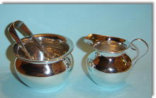 Antique English  Miniature Silver Cream Jug & Sugar Bowl 1907