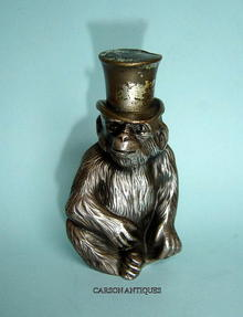 ANTIQUE  WÜRTTEMBERG NOVELTY MONKEY LIGHTER