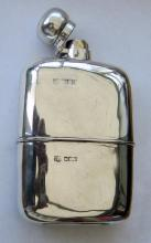 Antique English Silver Hip Flask 1902