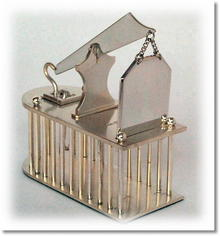 Hand Made Humane English Silver MouseTrap / Cage
