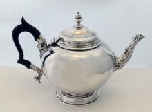 Antique English Victorian Silver Bullet Shaped Teapot 1883