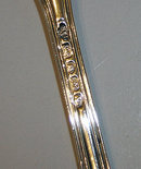 Antique Silver Fiddle Thread Table Fork