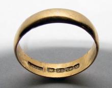 Antique  English 22k Gold Wedding Band 1894