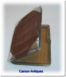 English Edwardian Crocodile & Silver Wallet /Purse