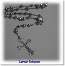 ANTIQUE SILVER ROSARY