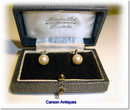 Pr Vintage Single 7.5mm Round Japanese Akoya (Salt Water) Cultured Pearl Earrings