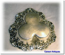 Antique English Victorian Silver Chased Bon Bon Dish