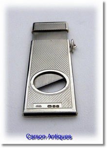 A Fine Hand Made Silver & Steel Cigar Cutter