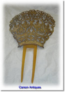 Antique Spanish Mantilla Wedding Hair Comb 1870