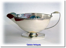 Art Deco English Silver Mint Sauce Boat