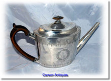 Antique English Georgian Silver Teapot  1797