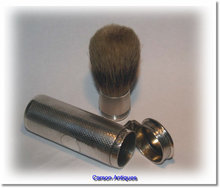 Antique English Silver Travelling Shaving Brush