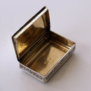 Antique English Silver Masonic Snuff Box 1817