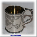Antique English Victorian Silver Christening Mug 1868