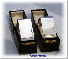 Pr Vintage English  Silver Heavy Napkin Rings