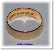Antique English 22k Gold BandWedding  Ring 1909