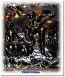 Romantic English Scene Silver Pin Tray
